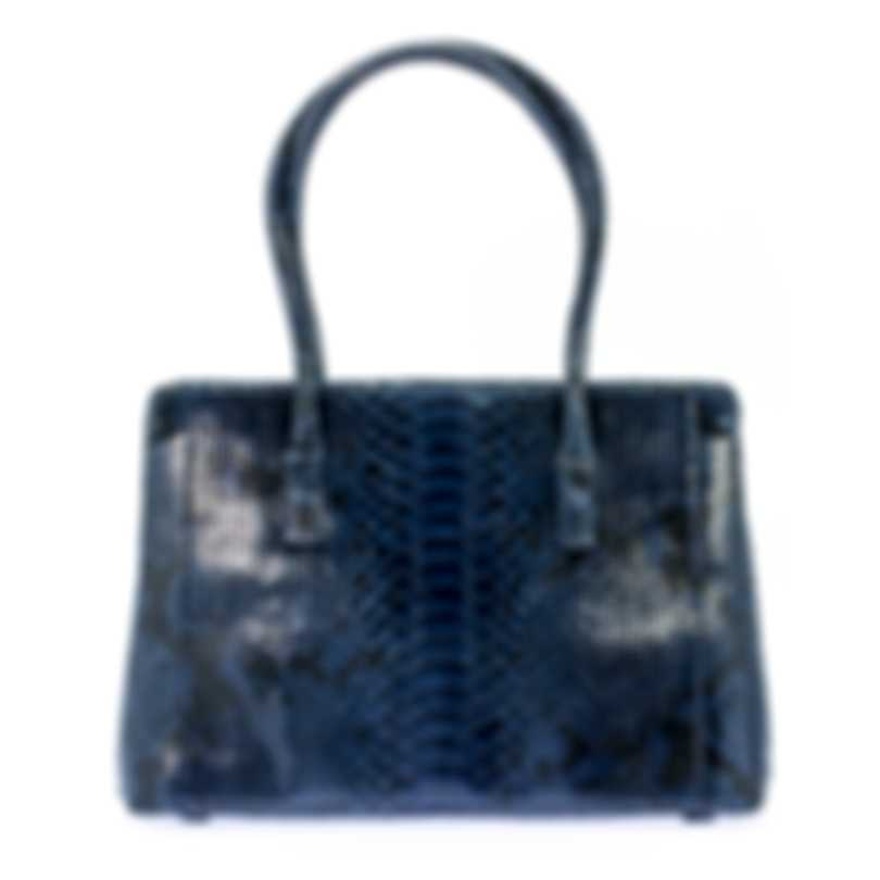 Nancy Gonzalez Resort 2020 Navy Python Handbag CW145162-PY748