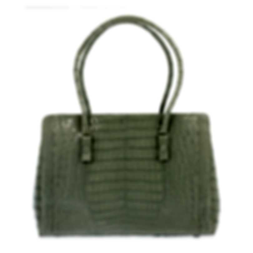Nancy Gonzalez Resort 2020 Grey Crocodile Handbag CW145162-XC5