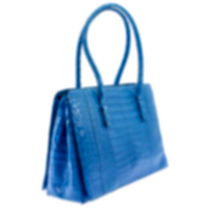 Nancy Gonzalez Resort 2020 Blue Crocodile Handbag CW145162-XC2
