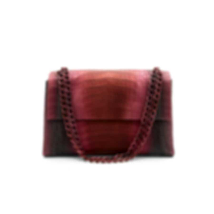 Nancy Gonzalez Madison Red Frosted Degrade & Cream Python Handbag CW185884SF-01