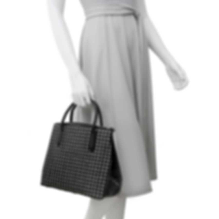 Nancy Gonzalez Nix Black Cane, Crocodile & Suede Handbag CW185913-158-020