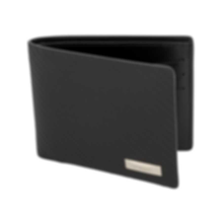 S.T. Dupont Defi Men's Carbon Black 6CC Billfold Wallet 170001 MSRP $350