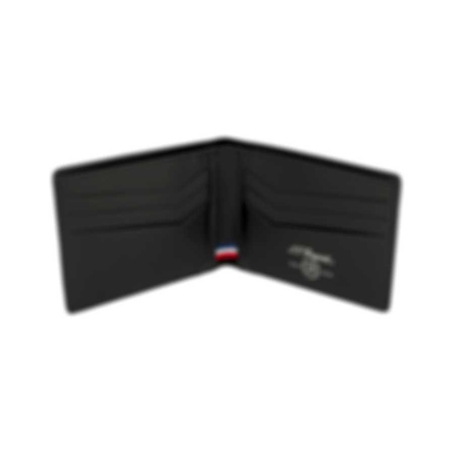 S.T. Dupont Defi Men's Carbon Leather Black 6 Card Billfold Wallet 170001
