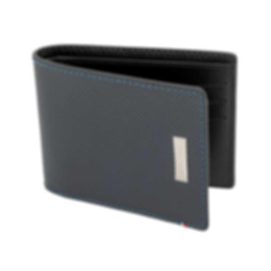 S.T. Dupont Defi Men's Blue 6CC Billfold Wallet 170601 MSRP $350