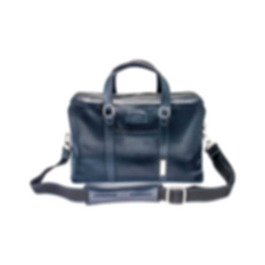 S.T. Dupont Tony Stark Line D Blue Leather Laptop & Document Case 181205TS