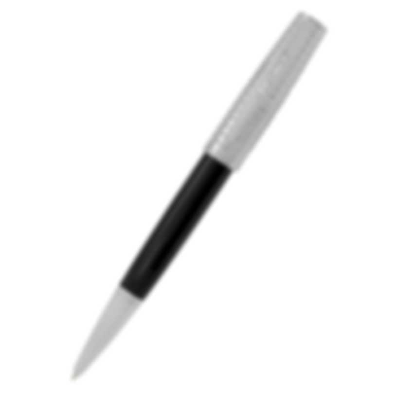 S.T. Dupont Saint Michel Black Lacquer And Chrome Ballpoint Pen 440140