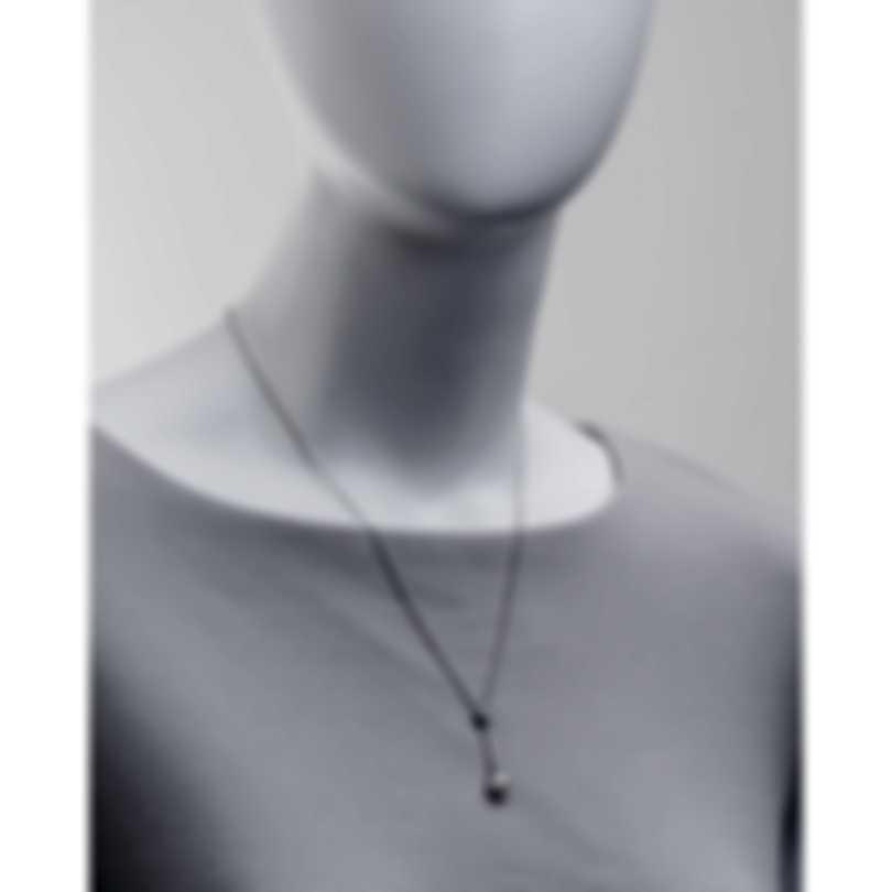 Salvini Rosette Perla 18k White Gold Diamond 0.08ct And Pearl Necklace 20015560
