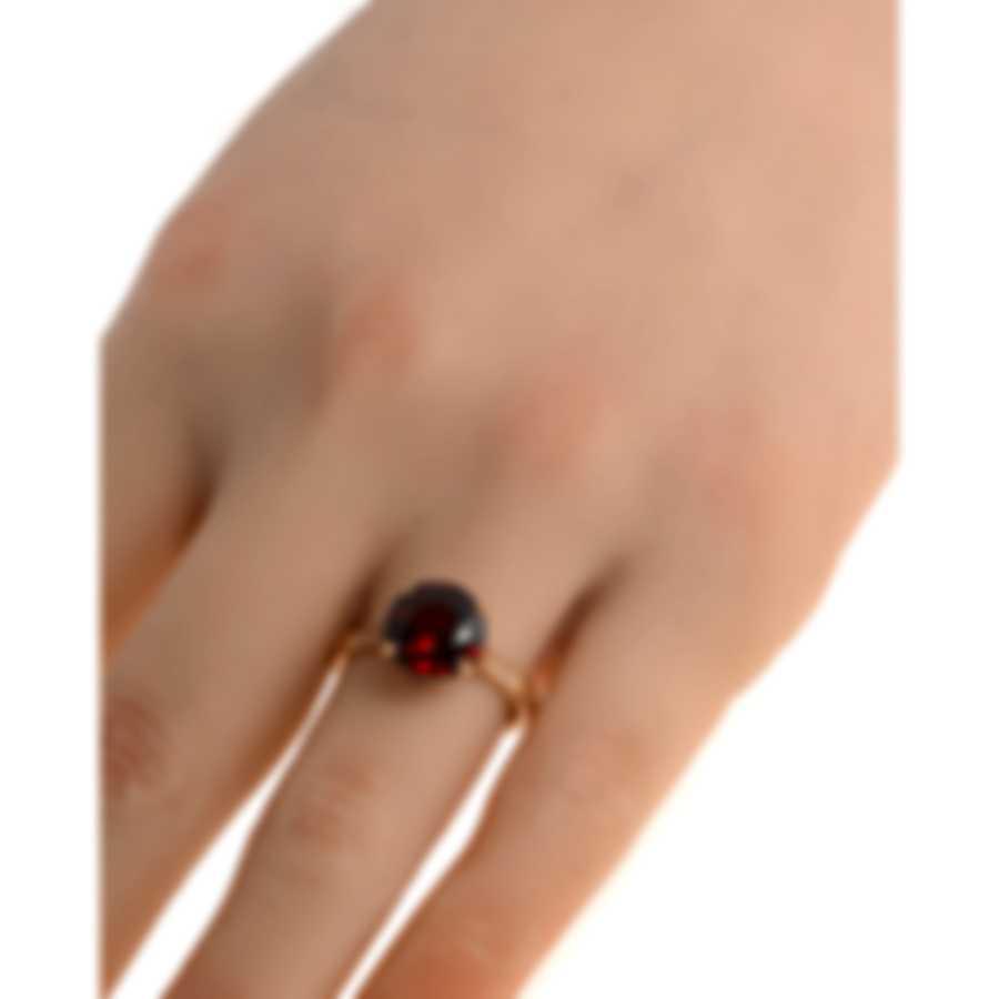 Salvini Crown 18k Rose Gold Diamond 0.12ct And Garnet Ring Sz 7.5 20032165