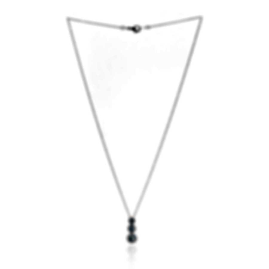Salvini By Damiani Corolla Semiprezioso 18k White Gold Diamond 0.21ct And Aquamarine Necklace 20041408