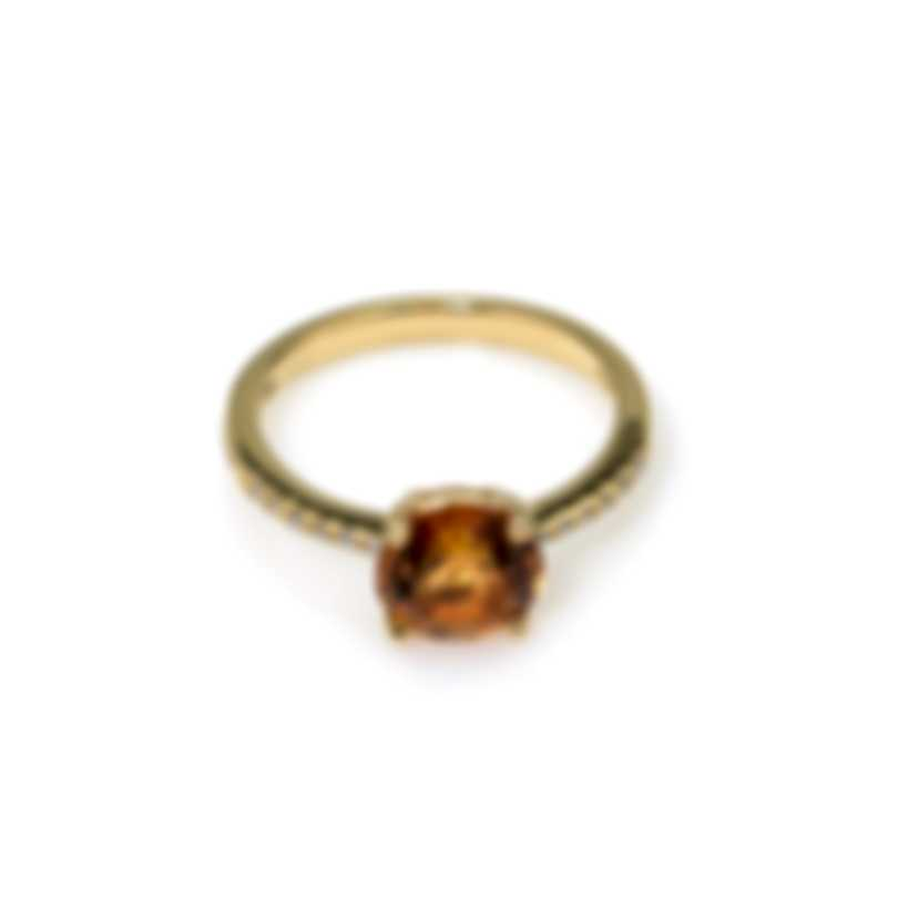 Salvini Trilly 18k Yellow Gold Diamond 0.1ct And Quartz Ring Sz 7.5 20043758