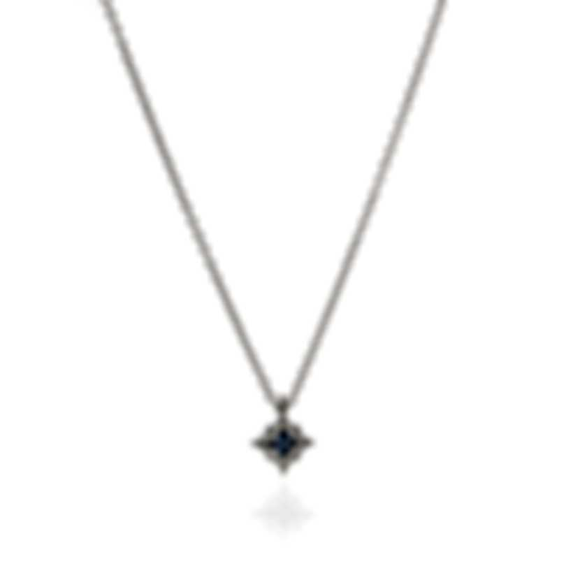 Salvini Sweet Dream S 18k White Gold Diamond 0.05ct Sapphire Necklace 20043954