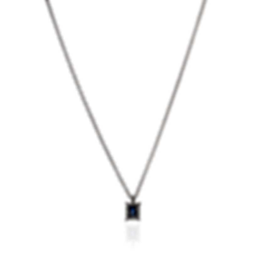Salvini Sweet Dream S 18k White Gold Diamond 0.05ct Sapphire Necklace 20043959
