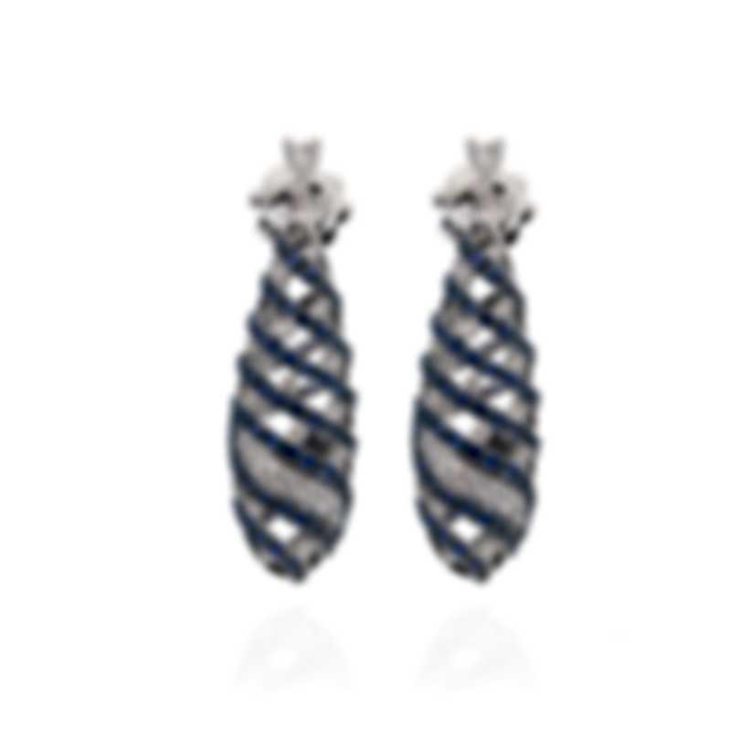 Salvini Beverly Hills 18k White Gold Diamond 0.45ct Sapphire Earrings 20049796