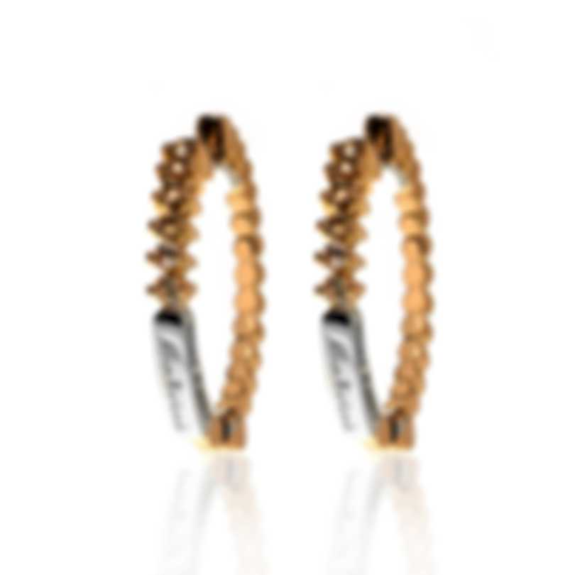 Salvini Logo Salvini 18k Rose & White Gold Brown Diamond .20ct Earrings 20053862