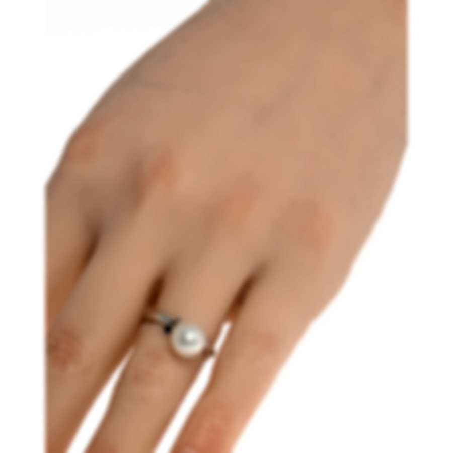 Salvini Cipria 18k White Gold Black Diamond 0.06ct Ring Sz 5.75 20054161