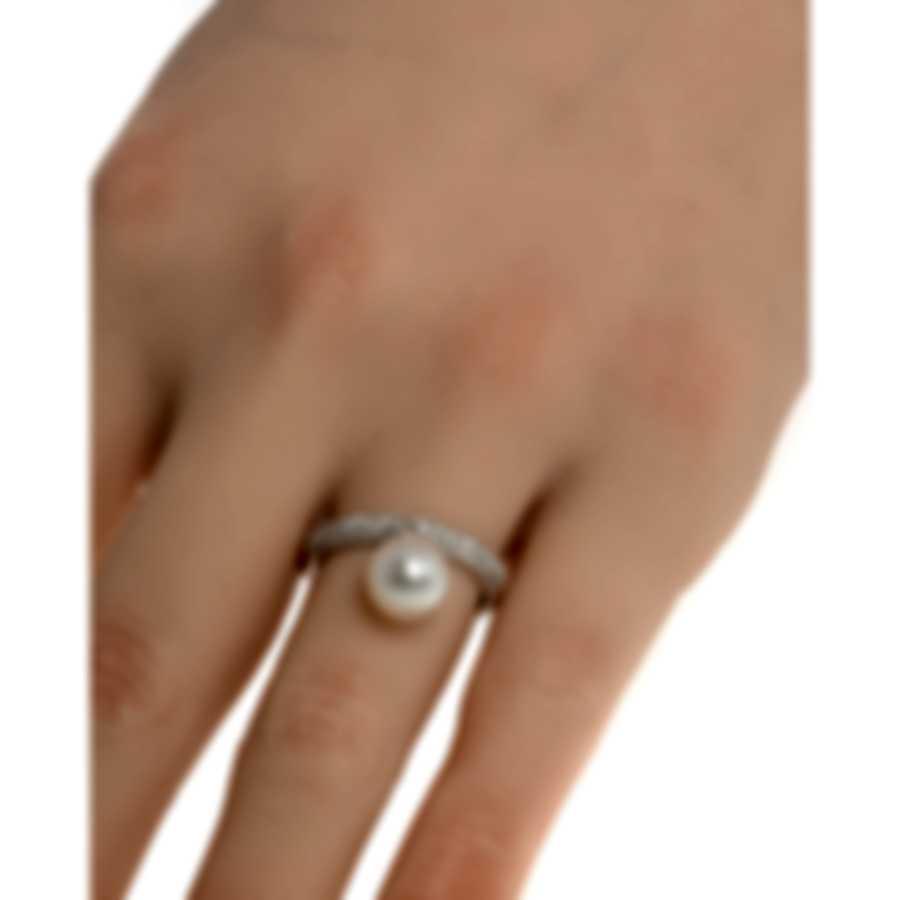 Salvini Cipria 18k White Gold Black Diamond 0.34ct Ring Sz 6.75 20054163