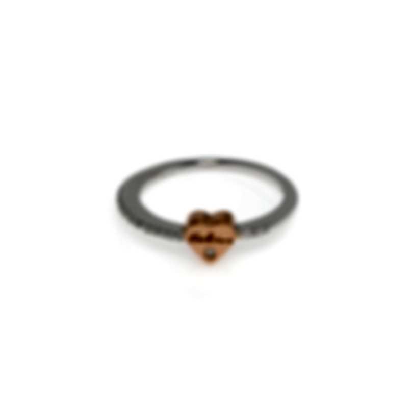 Salvini Just Salvini 18k White & Rose Gold Diamond 0.10ct Ring Sz 6.75 20054168