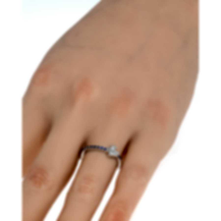 Salvini Just Salvini 18k White Gold Diamond 0.01ct & Sapphire Ring 6.25 20054173