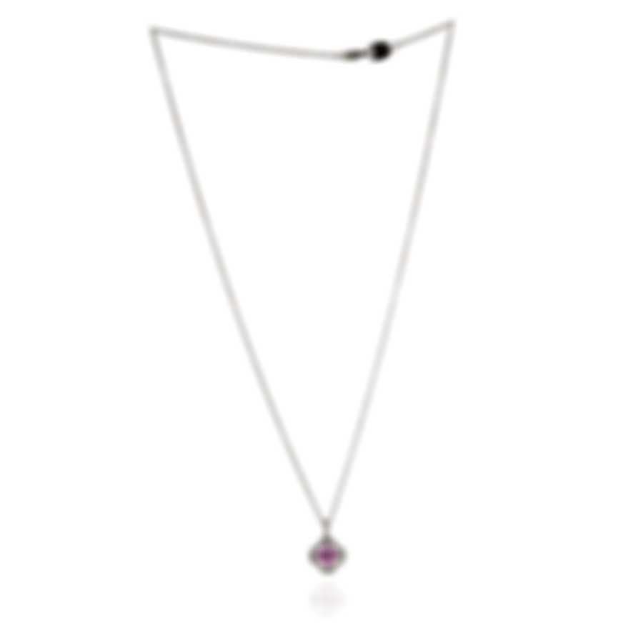 Salvini Doroty 18k White Gold Diamond 0.25ct And Ruby Necklace 20055819