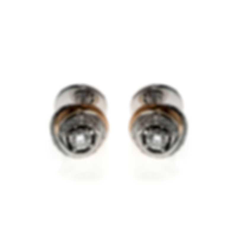 Salvini Charade 18k White & Rose Gold Diamond 0.40ct Earrings 20057754