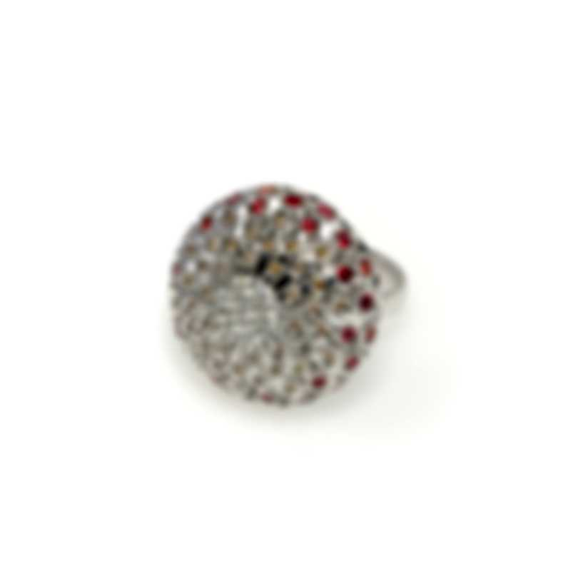 Salvini Chignon 18k White Gold Diamond 1.02ct And Sapphire Ring Sz 7 20060508