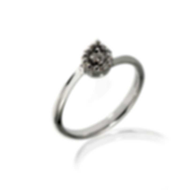 Salvini Forme Di Luce 18k White Gold Diamond 0.1ct Ring Sz 6.5 20067517