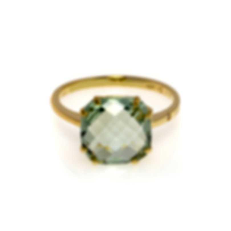 Salvini Santa Fe 18k Yellow Gold Diamond 0.01ct & Prasiolite Ring 6.25 20067313