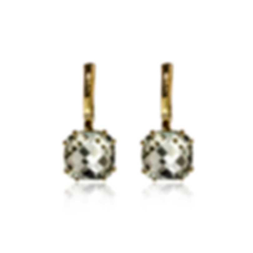 Salvini Santa Fe 18k Yellow Gold Diamond 0.01ct And Prasiolite Earrings 20068933