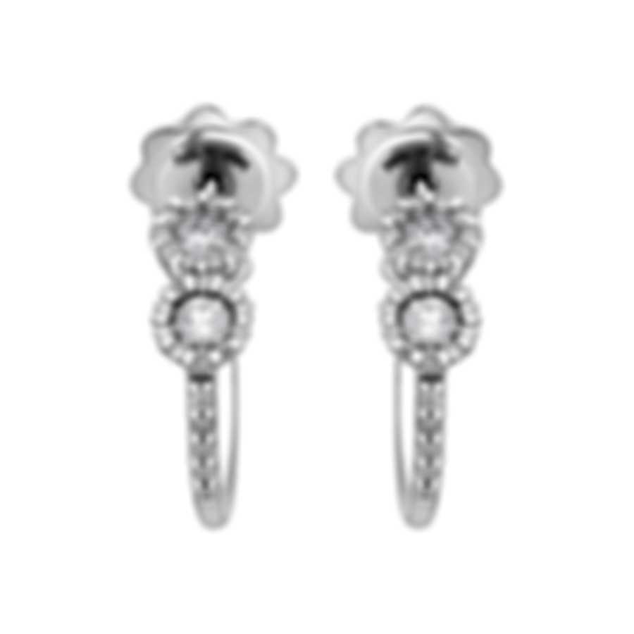 Salvini By Damiani Corona 18k White Gold Diamond 0.4ct Earrings 20069264