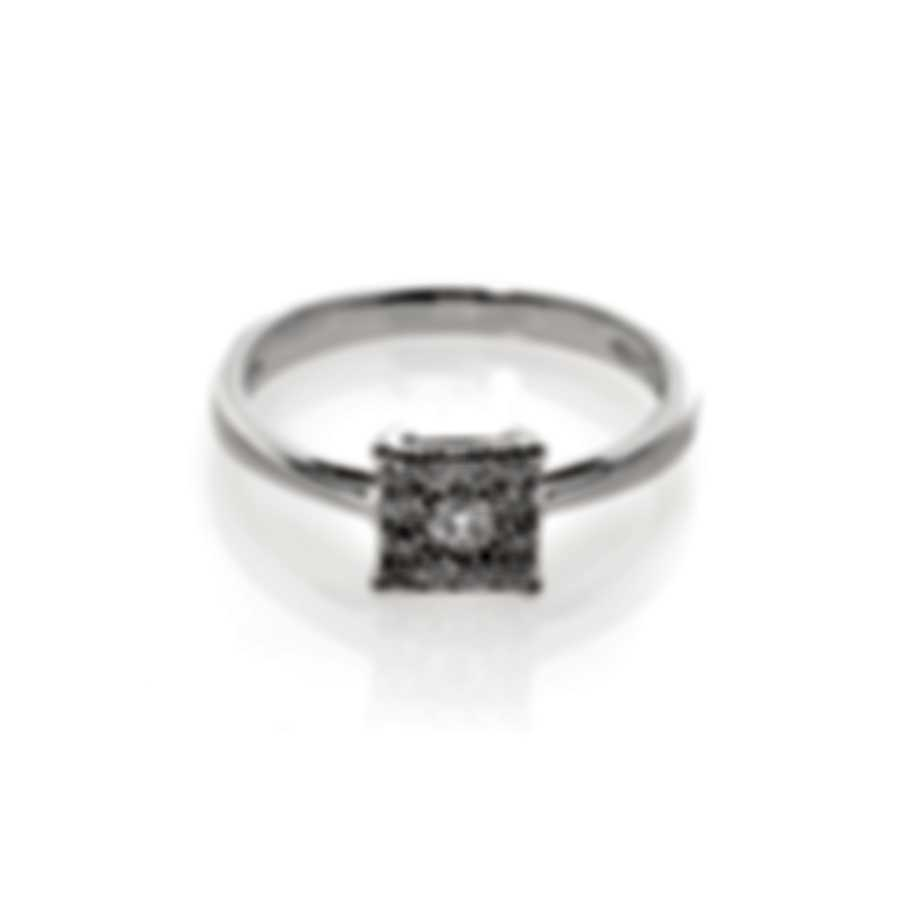 Salvini By Damiani Shape S 18k White Gold Diamond 0.17ct Ring Sz 6 20070205
