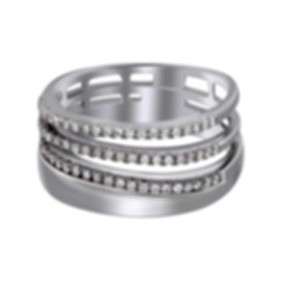 Salvini Euforia 18k White Gold Diamond 0.30ct Ring Sz 6.5 20071543