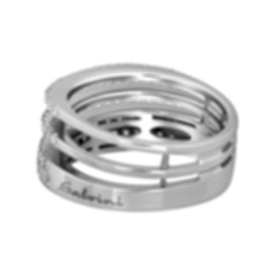 Salvini By Damiani Euforia S 18k White Gold Diamond 0.55ct Ring Sz 7.75 20071549