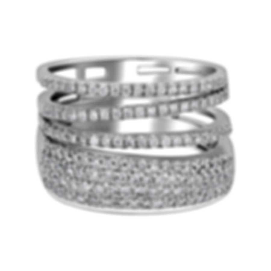 Salvini Euforia S 18k White Gold Diamond 0.8ct Ring Sz 6.75 20071552