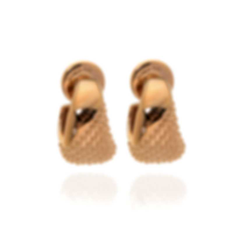 Salvini By Damiani Bold Rose Gold Plated Silver Diamond Earrings 20073410