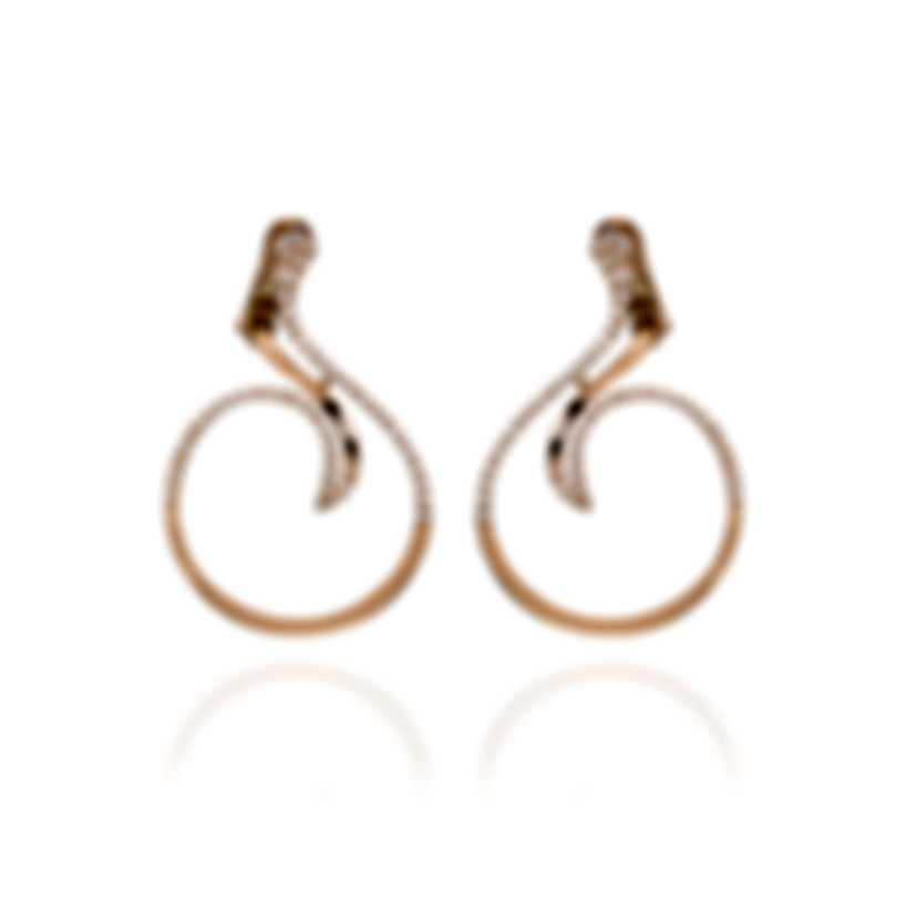 Salvini Maharaja 18k Rose Gold Diamond 0.8ct Earrings 20073649