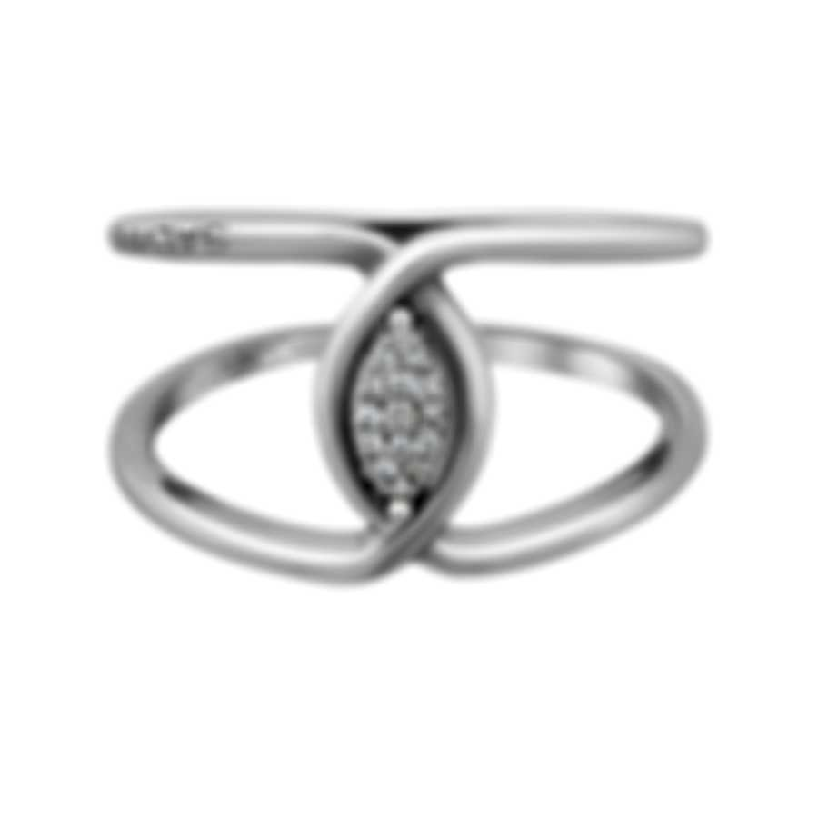 Salvini Incontri 18k White Gold Diamond 0.05ct Ring Sz 6.5 20073904