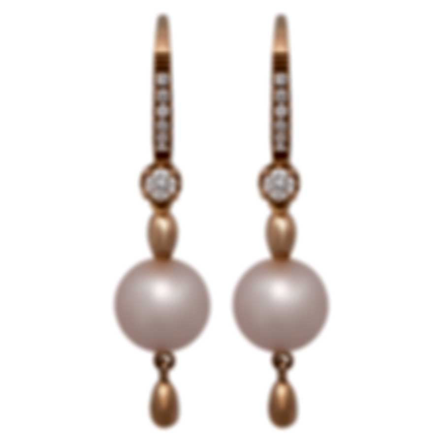 Salvini Sogno D'oriente 18k Rose Gold Diamond 0.22ct And Pearl Earrings 20075334