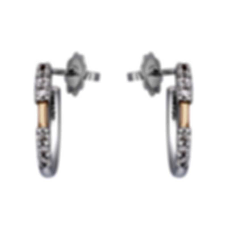 Salvini Nastro S 18k White Gold 18k Rose Gold Diamond 0.45ct Earrings 20076010
