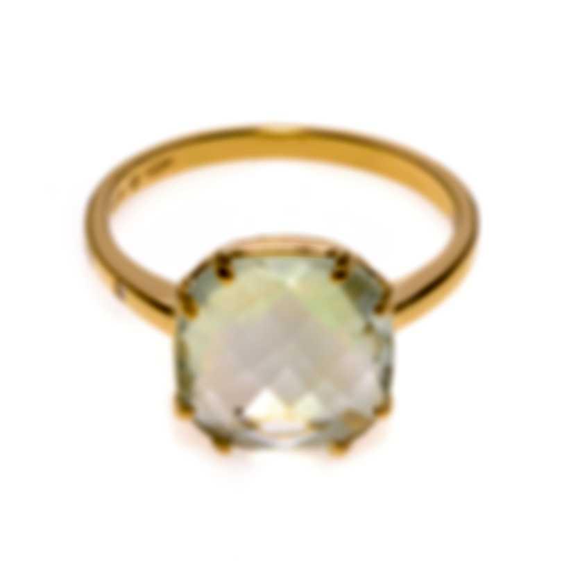 Salvini Santa Fe 18k Yellow Gold Diamond 0.01ct & Prasiolite Ring Sz5.5 20076153