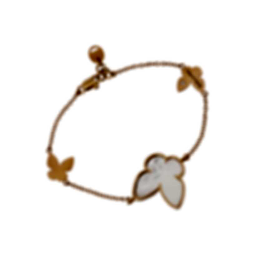 Salvini I Segni 18k Rose Gold Diamond 0.01ct & Mother Of Pearl Bracelet 20081488