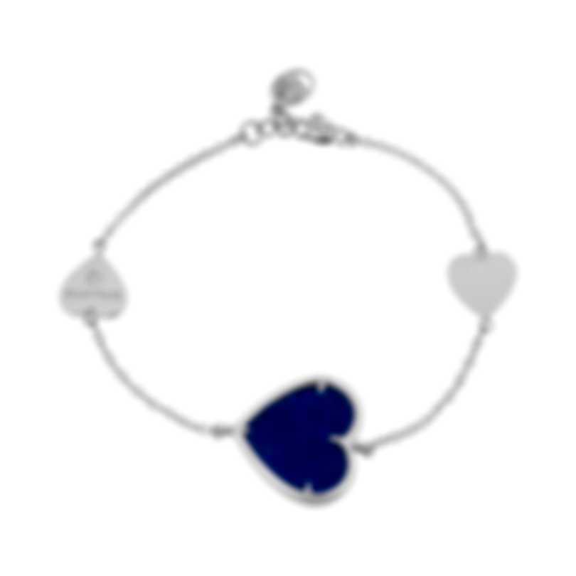 Salvini I Segni 18k White Gold Diamond 0.01ct And Lapis Bracelet 20081491