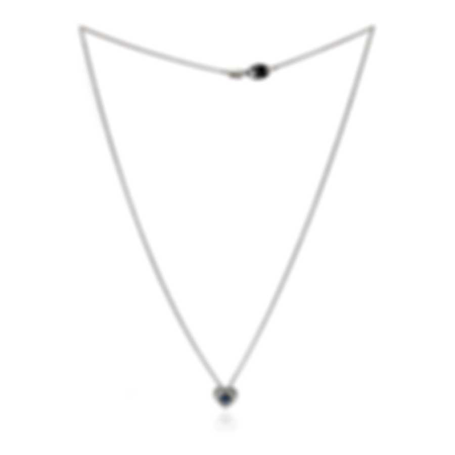 Salvini By Damiani Forma 18k White Gold Diamond 0.204ct And Sapphire Necklace 20081649