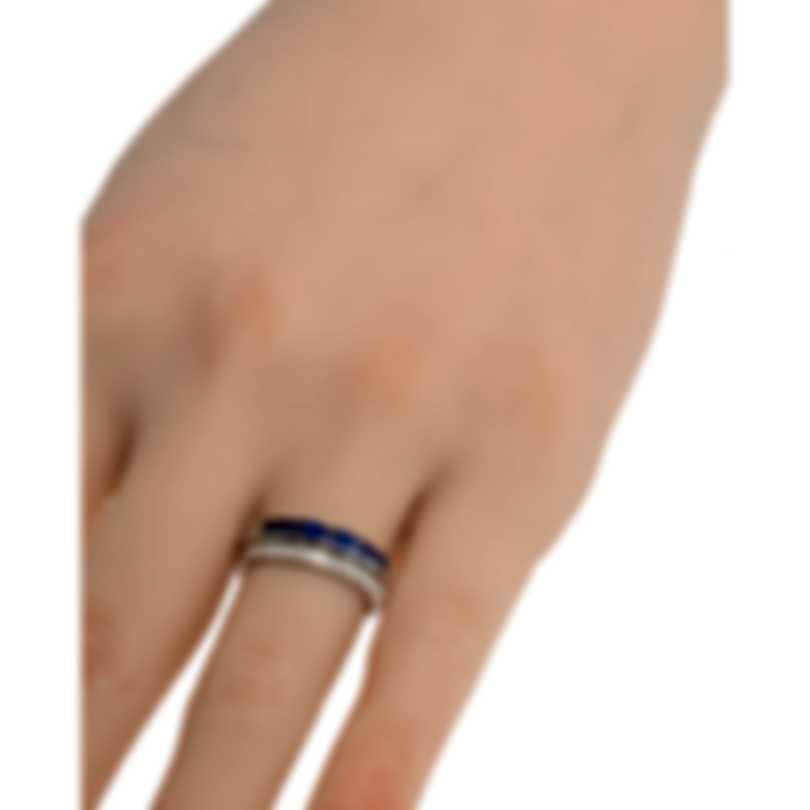 Salvini I Segni 18k White Gold Diamond 0.15ct And Sapphire Ring Sz 6.5 20085368