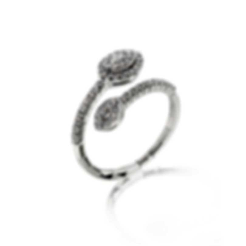 Salvini Narciso S 18k White Gold Diamond 0.4ct Ring Sz 6.5 81069771