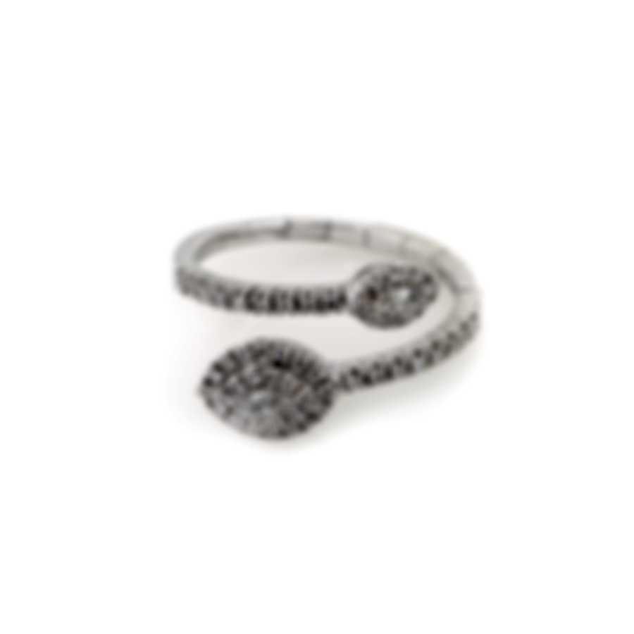 Salvini Narciso S 18k White Gold Diamond 0.4ct Ring Sz 6.5 81069771