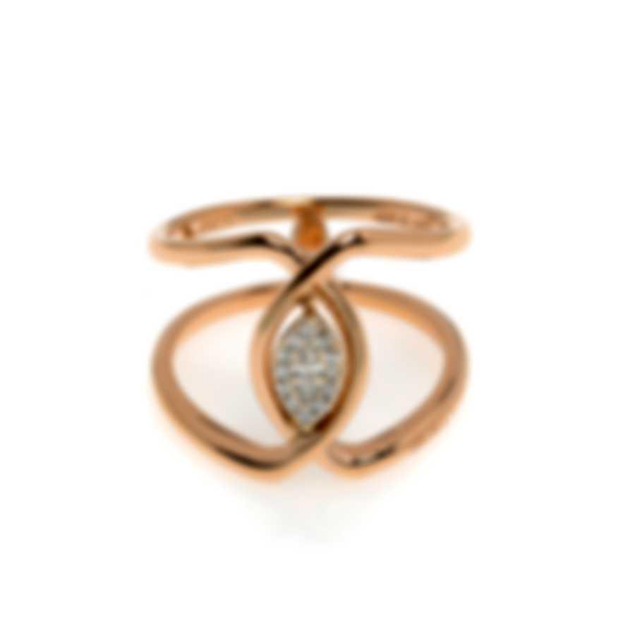 Salvini Incontri 18k Rose Gold Diamond 0.16ct Ring Sz 6.5 81071849