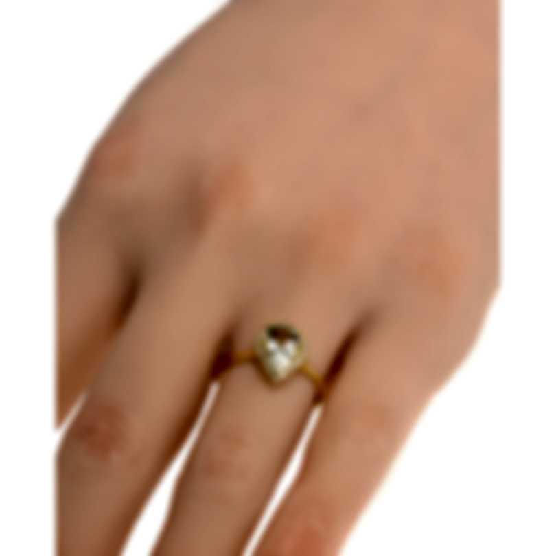 Salvini Sorrento 18k Yellow Gold Diamond 0.20ct & Prasiolite Ring Sz6.5 81072183