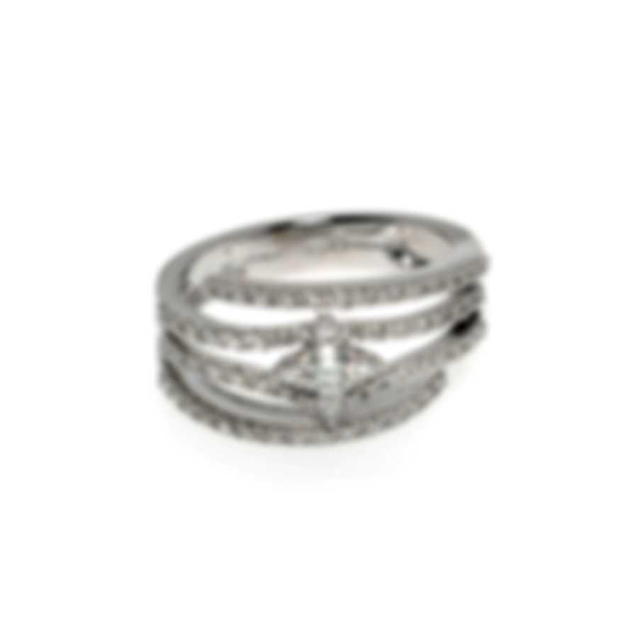 Salvini Luminosa 18k White Gold Diamond 0.63ct Ring Sz 6.75 81081866