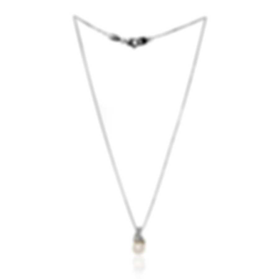 Salvini 18k White Gold Diamond(0.19ct Twd.)and Pearl Necklace ADP20940