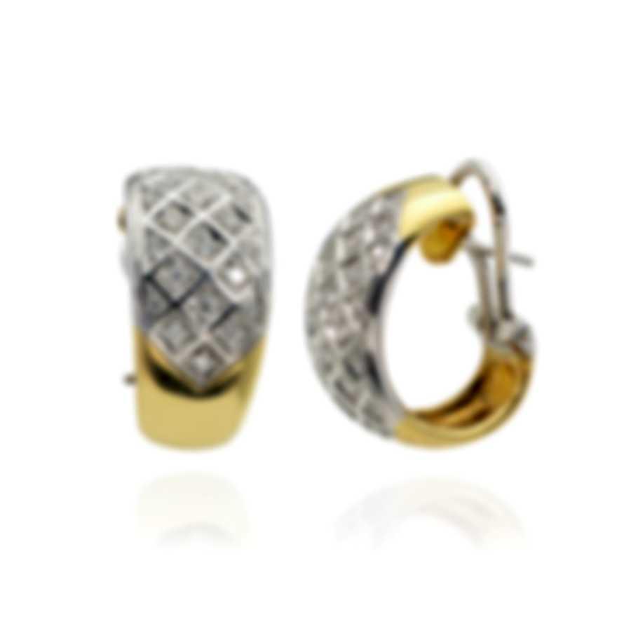 Salvini 18k Yellow Gold And 18k White Gold Diamond(0.56ct Twd.)Earrings SOG32020